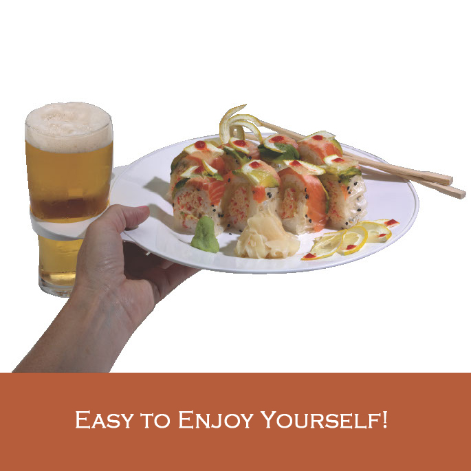 Use the Practical Plate at a Sushi Party