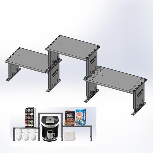 Interlocking Shelf at different heights
