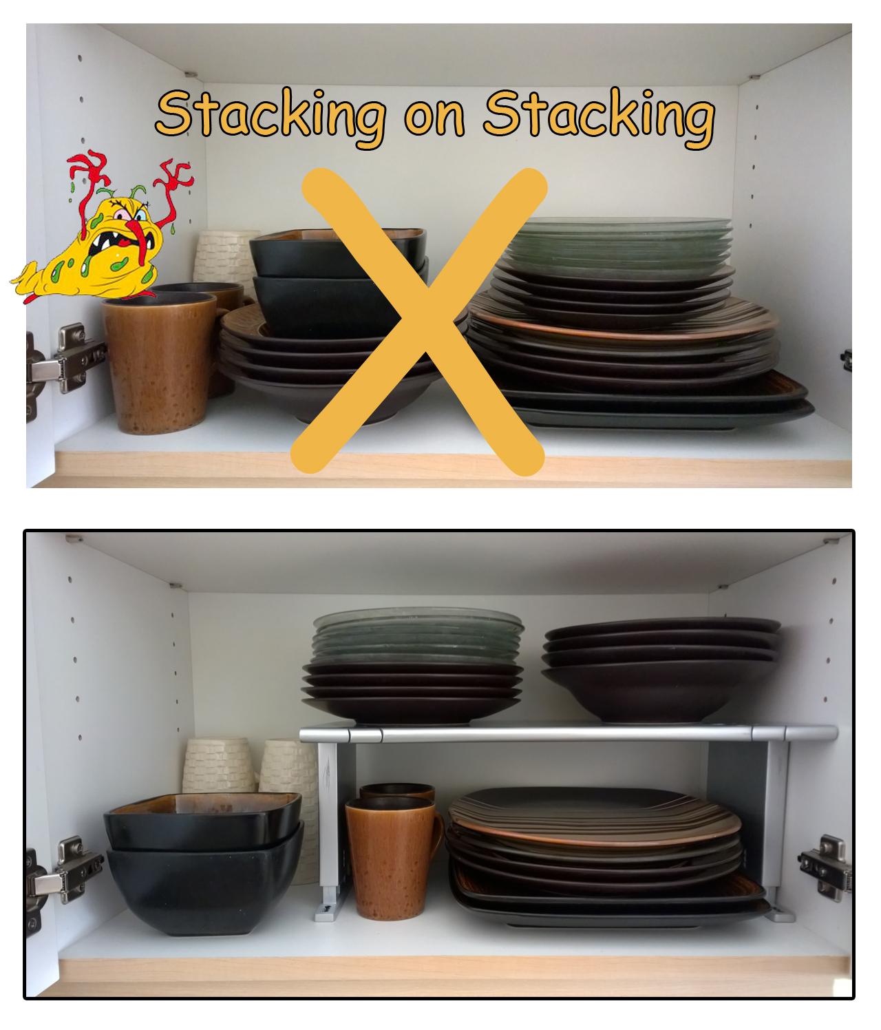 Shelf Lower and Wider
