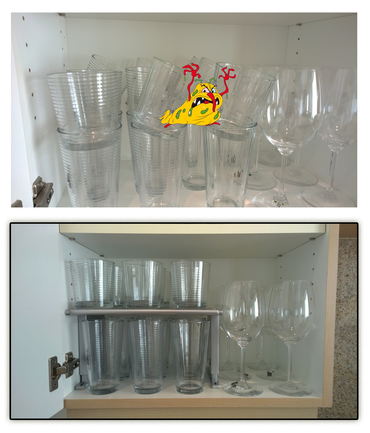 Shows Taller and Thinner Shelf