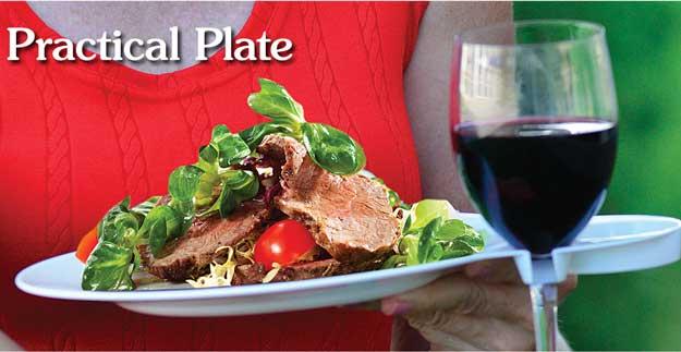 Enjoy a Steak Salad with Wine